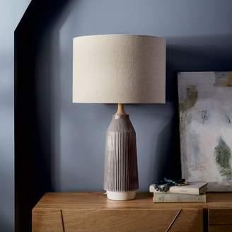 west elm Roar + RabbitTM Ripple Ceramic Table Lamp - Large Narrow (Warm Gray)