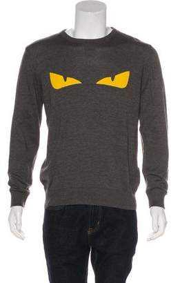 Fendi Monster Eyes Embroidered Pullover Sweater