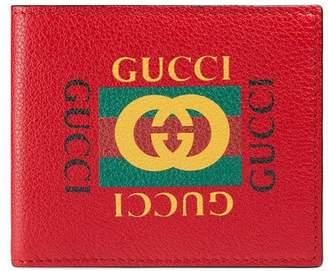 Gucci Print leather bi-fold wallet