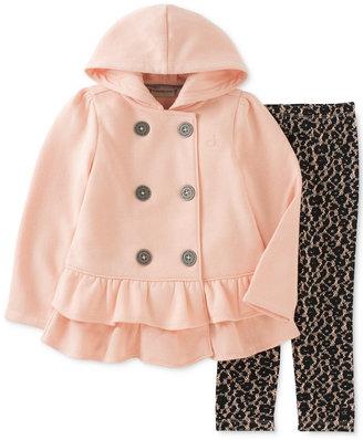 Calvin Klein Baby Girls' 2-Pc. Hooded Jacket & Animal-Print Leggings Set $50 thestylecure.com