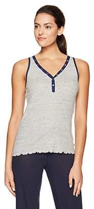 Tommy Hilfiger Women's Screen Color Block Tank Pajama Top Pj