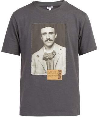 Loewe X Charles Rennie Mackintosh Cotton T Shirt - Mens - Black