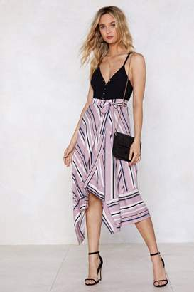 Nasty Gal The Stripes and Bright Stars Midi Skirt