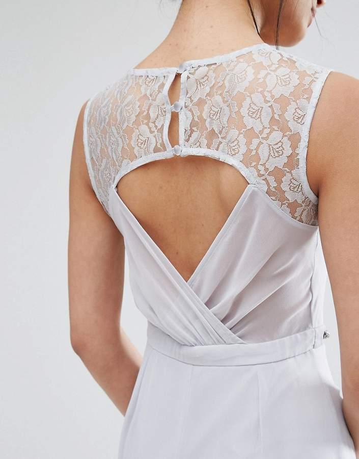 Elise Ryan Sweetheart Lace Maxi Dress With Embellished Waist