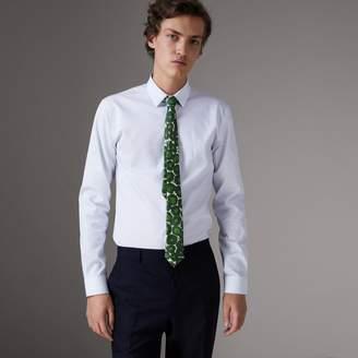 Burberry Slim Fit Striped Dobby Cotton Shirt