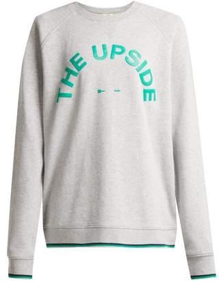 The Upside Sid Logo Print Cotton Jersey Sweatshirt - Womens - Grey