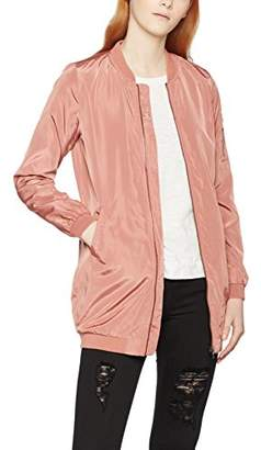 Only Women's Onllinea Long Bomber Coat OTW Jacket,8 (Manufacturer Size: XS)