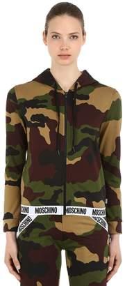 Moschino Camouflage Zip-Up Sweatshirt Hoodie