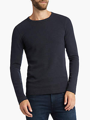 HUGO BOSS BOSS Tempest Long Sleeve T-Shirt, Dark Blue