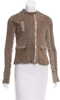Giorgio Brato Distressed Suede Jacket