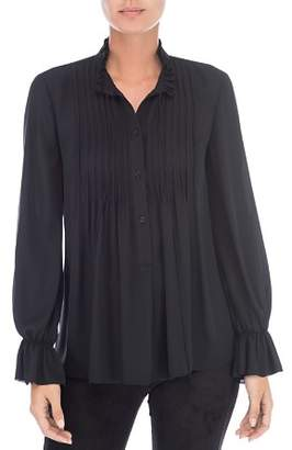 Bobeau B Collection by Ruby Pintucked Blouse