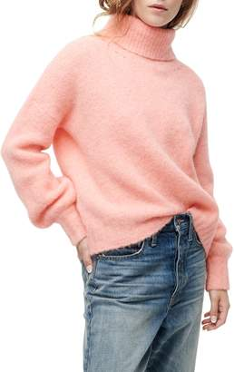 J.Crew Balloon Sleeve Fuzzy Turtleneck Sweater