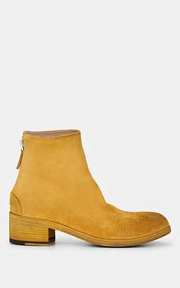 Marsèll Women's Distressed Suede Ankle Boots - Yellow
