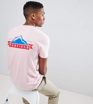 Penfield Mountain Back Logo Print T-Shirt EXCLUSIVE in Pink