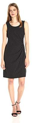 Jones New York Women's Side Zip Shirred Dress