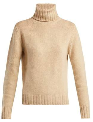 Allude Roll Neck Cashmere Sweater - Womens - Beige