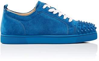 Christian Louboutin Men's Louis Junior Spikes Flat Suede Sneakers