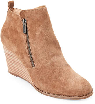 Lucky Brand Sesame Yesterr Suede Wedge Booties
