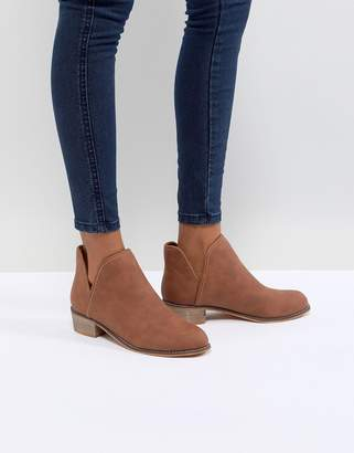 boohoo Cut Out Ankle Boot
