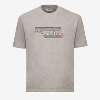 Bally Auto Print T-Shirt Grey, Men's cotton jersey t-shirt in grey melange