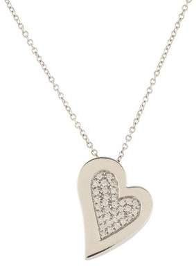 18K Pavé Diamond Heart Pendant Necklace