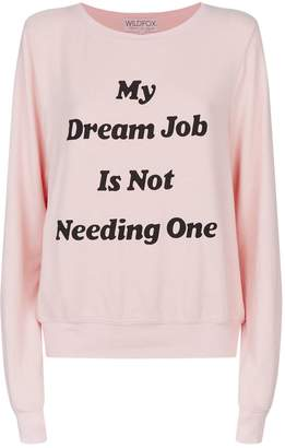 Wildfox Couture Slouchy Slogan Sweater