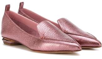 Nicholas Kirkwood Beya metallic leather loafers