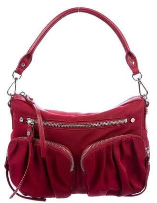 MZ Wallace Leather-Trimmed Nylon Hobo