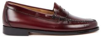G.H. Bass & Co Penny Burgundy Glossed Leather Loafers