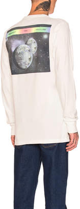 Off-White Off White ART DAD Space On Deck Long Sleeve Tee