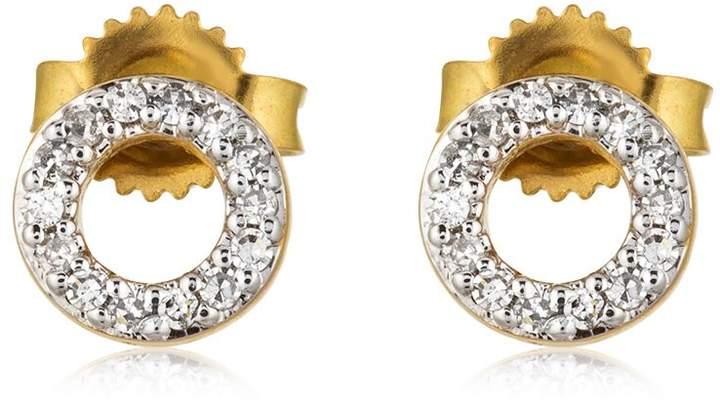 Diamantohrringe Mit Minikreisen