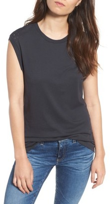 Women's Ag Saint Muscle Tee $98 thestylecure.com