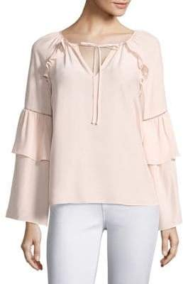 Parker Saturday Bell Sleeve Silk Blouse