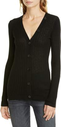 Joie Brinleigh Ribbed Wool & Silk Cardigan