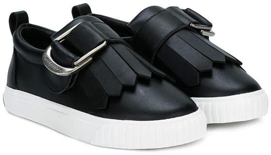 fringed buckle-detail sneakers