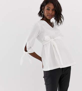 Mama Licious Mama.licious Mamalicious tie sleeve blouse