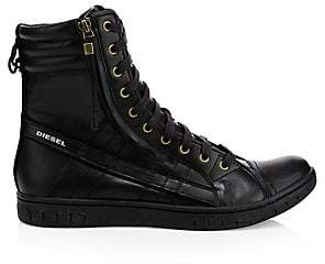 Diesel Men's Hybrid Leather Sneaker Boots