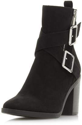 Dorothy Perkins Womens *Head Over Heels Black 'Oblyx' Ladies Heeled Ankle Boots
