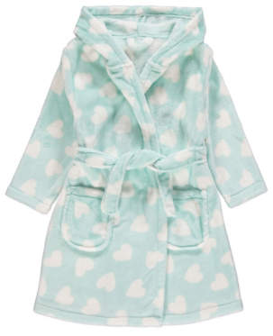 George Mint Green Heart Print Dressing Gown