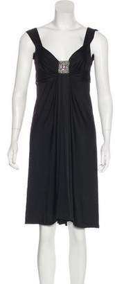 Blumarine Pleated Knee-Length Dress