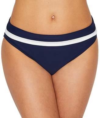 Panache Anya Cruise Fold-Over Bikini Bottom, M, / White