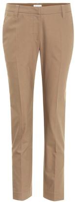 Brunello Cucinelli Mid-rise cotton twill trousers