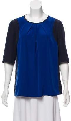 Luisa Cerano Short Sleeve Pleated Blouse w/ Tags