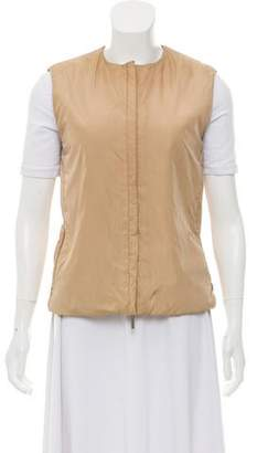 Max Mara 'S Faux Fur-Lined Zip-Up Vest