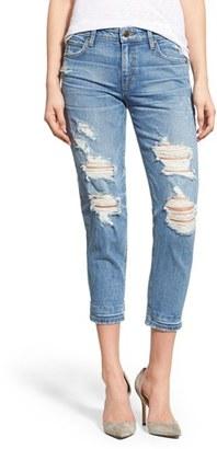 Joe's 'Collector's - Billie' Destroyed Crop Slim Boyfriend Jeans (Mazie) $198 thestylecure.com