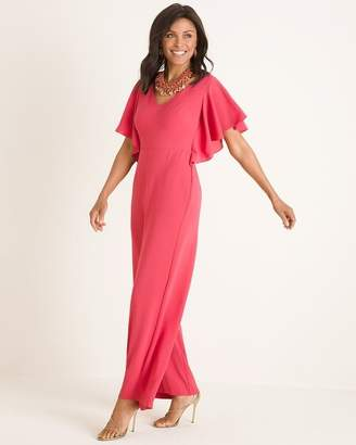 Chico's Chicos Ruffle-Sleeve Jumpsuit