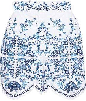 Dolce & Gabbana Broderie Anglaise Cotton-blend Shorts