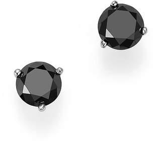 Bloomingdale's Black Diamond Stud Earrings in 14K White Gold, 1.0 ct. t.w. - 100% Exclusive