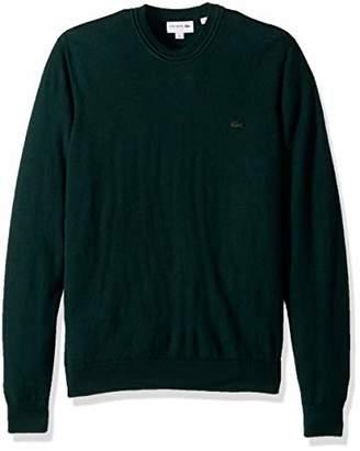 Lacoste Men's Classic Lambswool Crewneck Sweater with Tonal Croc-AH2997