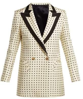 Blazé milano BlazA Milano - Oh La La Polka Dot Print Silk Blazer - Womens - Cream Multi